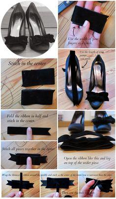 #DIY Velvet Bow Shoe Clip #tutorial by Glitter&Bow blog {click through for full instructions}