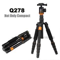 58.14$  Buy now - http://alisnk.worldwells.pw/go.php?t=32583642360 - Original QZSD Q278 Lightweight Compact Tripod Monopod Professional Ball Head for Canon Nikon DSLR Camera / Portable Camera Stand
