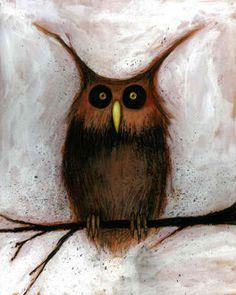 Creepy Owl - by Eslinger