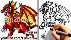 How to Draw a Dragon - Learn to Draw - Drawing Tutorials - Fun2draw
