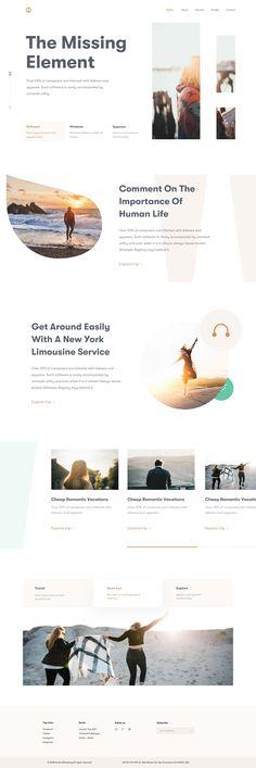 Web homepage design 2x