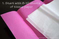 Tutorial: How to make tissue paper pom-poms