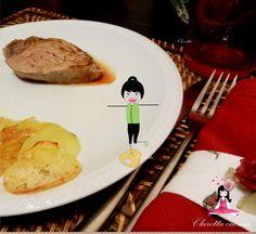 Filetto di manzo con patate croccanti fatte al forno, Ricetta filetto