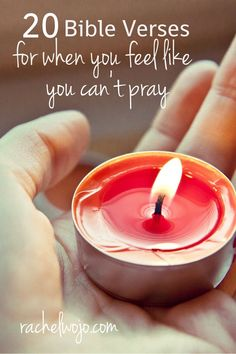 bible verses for when you can't pray