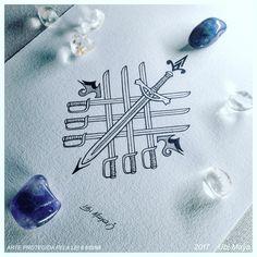 Espada Tattoo, Tatoo, African Symbols, Book Of Shadows, Art Lessons, Spirituality, Ink, Sketches, Artist