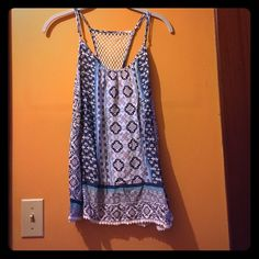 NWT Aeropostale tank top Brand new with tags Aeropostale tank top. Has a great pattern and beautiful detailing. Never worn and is in perfect condition! Bundle 2+ items for 20% off! Aeropostale Tops Tank Tops