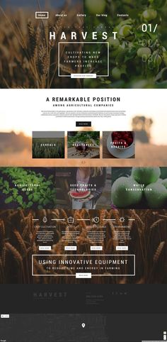 Harvest WordPress Theme Harvest is a ready-made Agriculture WP Theme that can gi. - Harvest WordPress Theme Harvest is a ready-made Agriculture WP Theme that can give you an opportuni - Web And App Design, Ios App Design, Web Design Trends, Site Web Design, Design Sites, Best Website Design, Graphisches Design, Website Design Layout, Wordpress Website Design