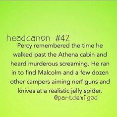 percy jackson headcanon - hahaha
