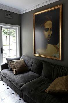 Interior Design For Living Room Product White Interior Design, French Interior, Home Interior, Interior Architecture, Dark Interiors, Beautiful Interiors, Cozy Living, Home And Living, Living Room