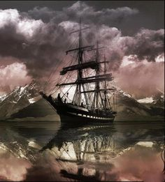 Old Ships. By what standard is this ship referred to as old. and by her lines, a clipper ship. Old Sailing Ships, Ghost Ship, Wooden Ship, Its A Mans World, Set Sail, Tall Ships, Water Crafts, Belle Photo, Wonders Of The World