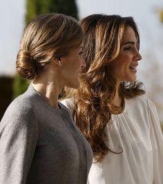 Queen Rania and Queen Letizia