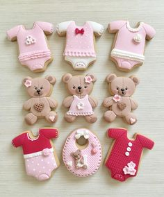 Teddy bear decorated cookies, so sweet