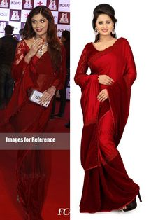Red Color Bollywood Replica Designer Saree