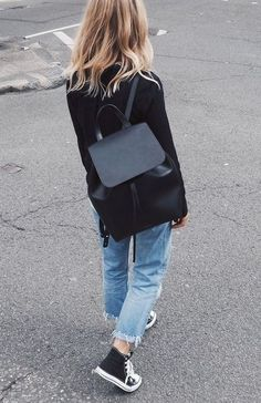 20 Stylish Ways to Wear Backpacks glamhere.com Stylish Ways to Wear a Backpack