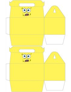 Free to use & free to share Spongebob gable box for your next Spongebob party <3