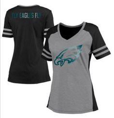Women's Philadelphia Eagles Pro Line White Powder Puff Long Sleeve T-Shirt