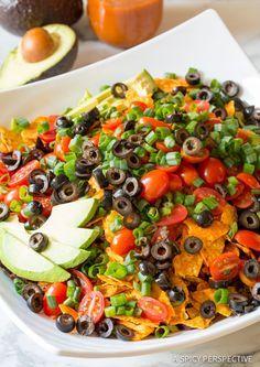 How to Make The Ultimate Dorito Taco Salad Recipe | ASpicyPerspective...