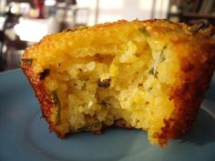 Cheddar polenta muffin, GF  Cheddar & Chive Polenta Muffins Makes 12 muffins  Dry Ingredients  1 1/2 c. coarse ground cornmeal (polenta or grits, I use these) 1 1/2 tsp. baking powder 1/2 tsp. baking soda 1/2 tsp. sea salt 1/2 – 1 tsp. dried chili flakes (optional) Wet Ingredients  1 c. plain Greek yogurt 1 Tbsp. coconut oil 2 eggs, beaten