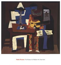 Three Musicians by Pablo Picasso #art #abstract #shopforart