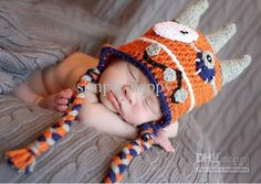 Wholesale Monster Hat - Buy Crochet Baby Boy Hats Monster Hat Baby Hat Photography Props Cotton Yarn Custom $8.15   DHgate