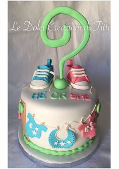 Baby Shower Cake: he or she?