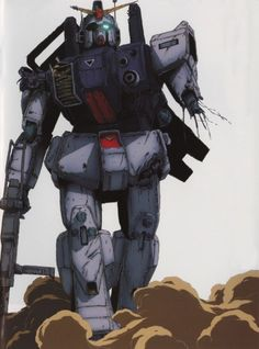 The Gundam Ground Type (陸戦型ガンダム) is a limited mass production Gundam-type mobile suit that was the beginning of the ground based series of mobile suits. The unit is first featured in Mobile Suit Gundam: The MS Team. Sci Fi Anime, Mecha Anime, Anime Fantasy, Anime Art, Gundam 00, Gundam Wing, Robot Picture, Gundam Wallpapers, Gundam Seed