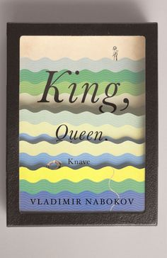 inspired by: wavy art on a vintage book cover, i think.... (John Gall: Nabokov Covers #graphic design #typography)