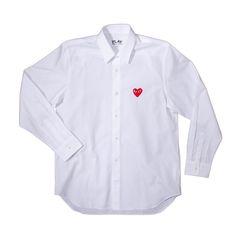 CDG, Basic Button Down Shirt (White)