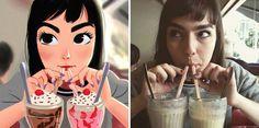 14 personnes prises au hasard sur facebook transformées en illustrations