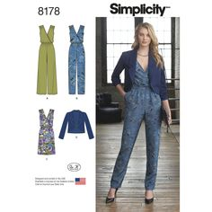 a1c554592259 This Misses  jumpsuit pattern has cross-over bodice