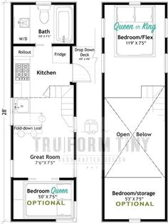 """Kootenay Country"" Tiny House on Wheels by TruForm Tiny Tiny House Movement // Tiny Living // Tiny House Plans // Tiny Home Floor Plan // Tiny House Layout, Small Tiny House, Modern Tiny House, Tiny House Living, Tiny House Design, House Layouts, Tiny Tiny, Living Room, Tiny House Trailer Plans"
