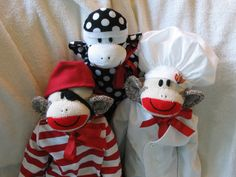 Pirate Sock Monkey. Full Sized Complete with Costume. CIJ Sale Item.. $56.00, via Etsy.