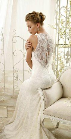 brautkleider spitze hochzeitskleid rücken 2014