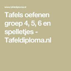 Tafels oefenen groep 4, 5, 6 en spelletjes - Tafeldiploma.nl