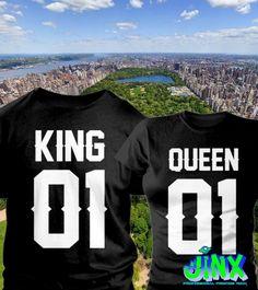 $299.00 2 Playeras Para Pareja King Queen NY - Comprar en Jinx