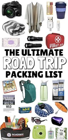 The Ultimate Road Trip Packing List: Packed full of road trip essentials to keep the car (and you!) safe, comfortable & entertained on your next road trip ***************************************************************************** Road Trip Packing List Roadtrip Tips, Road Trip Packing List, Road Trip Essentials, Road Trip Hacks, Packing Lists, Pack For Road Trip, Us Road Trip, Vacation Packing, Route 66 Road Trip