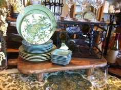 Peacock dishes at Pottery Barn. Love!