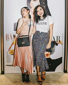 @alializar and @satiradiana strutting their styled up BAZAAR white tee in front of the #BAZAAR150 themed wall. #BAZAARFashionParty throwback  via HARPER'S BAZAAR MALAYSIA MAGAZINE OFFICIAL INSTAGRAM - Fashion Campaigns  Haute Couture  Advertising  Editorial Photography  Magazine Cover Designs  Supermodels  Runway Models