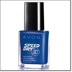 Speed Dry+ Nail Enamel ~ On Point Blue http://jgoertzen.avonrepresentative.com/