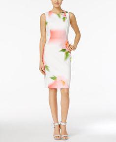 134.00$  Buy now - http://viycz.justgood.pw/vig/item.php?t=iso3xjb29833 - Petite Floral-Print Sheath Dress 134.00$