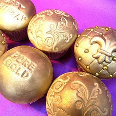 Gold couture cupcakes