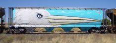 Very interesting train car Old Steam Train, American Graffiti, Train Art, Rail Car, Stock Art, Train Tracks, Graffiti Art, Art World, Street Art