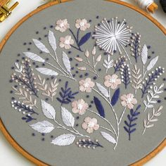 Wonderful Ribbon Embroidery Flowers by Hand Ideas. Enchanting Ribbon Embroidery Flowers by Hand Ideas. Floral Embroidery Patterns, Embroidery Transfers, Japanese Embroidery, Hand Embroidery Stitches, Modern Embroidery, Crewel Embroidery, Embroidery Hoop Art, Hand Embroidery Designs, Vintage Embroidery