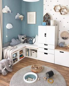 Kids room - 114 brilliant playroom decor ideas 43 Homydepot com Baby Bedroom, Baby Boy Rooms, Kids Bedroom, Ikea Kids Room, Ikea Childrens Bedroom, Room Baby, Playroom Decor, Baby Room Decor, Bedroom Decor