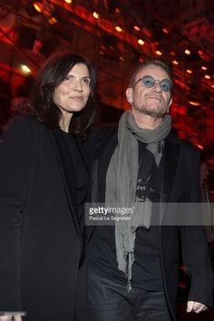 Singer Bono and his wife Ali Hewson attend the Dior Homme Menswear Fall/Winter 2017-2018 show as part of Paris Fashion Week on January 21, 2017 in Paris, France.
