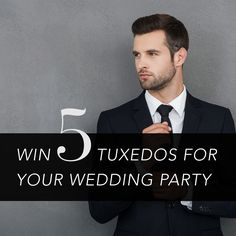 Free tux rentals for your wedding party? 🤵 Enter to win: blacktietuxes.com . . . #mensformalwear #blacktieformalwear #suit #tux #weddingsuit #suitandtie #weddingsuits #designersuit #weddings #groom #groomsmen #groomfashion #groomstyle #weddingideas #weddingplanning #weddinginspo #mensstyleguide #mensweardaily #dapper #suitstyle #suitpage #blacktieevent #blacktie #btf #formalwear #tuxedo Black Tie Formal Wear, Tux Rental, Mens Style Guide, Tuxedos, Groom Style, Suit And Tie, Suit Fashion, Wedding Suits, Groomsmen