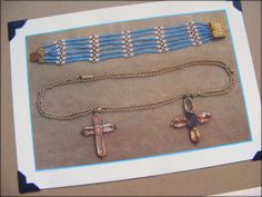 The most famous piece is a topaz cross, now on a necklace with a cross of Cassandra's, both of them gifts from their seafaring brother Charles who purchased them in 1801 with prize money he received for the capture of a French ship during the Napoleonic Wars. The crosses are on display along with some of Jane's and Cassandra's other jewels at the Jane Austen's House Museum in Chawton, Hampshire.