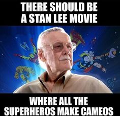 Stan Lee Movie<< that's basically what they're doing already. Stan Lee is just sharing the spotlight Marvel Comics, Marvel Funny, Marvel Memes, Marvel Avengers, Dc Memes, Funny Memes, Stan Lee Movies, Loki, Fandoms