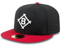 Custom Black Scarlet Brooklyn Dodgers 59Fifty Fitted Cap by NEW ERA x MLB