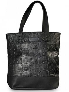 """""""Sugar Skull"""" Pattern Embossed Tote by Loungefly"""